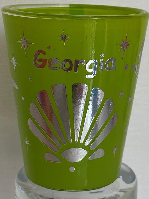 Georgia Silver Foil Shot Glass 2 oz