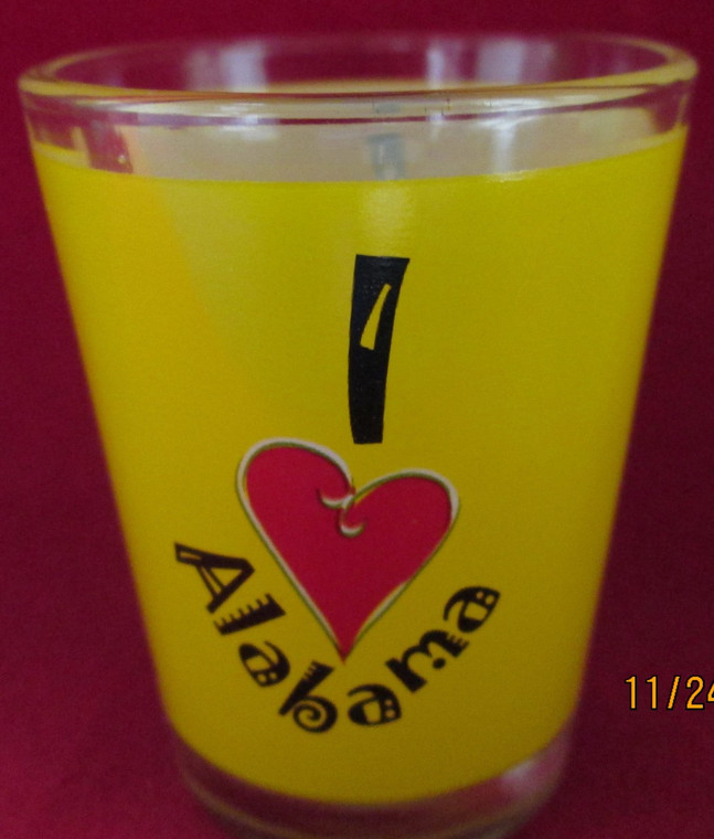 State Shot Glass I Love AL