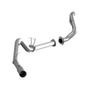 """MBRP 4"""" Filter Back, Single Side Exit, AL + Down Pipe, Carb EO#D-763-1, Ford F-250/350/450 6.7 L - not cab & chassis 2015 - 2016"""