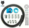 Pacbrake Universal Mounting Remote Oil Filter Kit For Cummins 3.9 L / 5.9 L Engines with Filter Thread of 1 inch X 16 UN Pacbrake