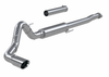 """MBRP 4"""" Cat Back, Single Side, Race, 304 Stainless Steel Ford F-150 2.7L/ 3.5L Ecoboost, 5.0L 2021"""