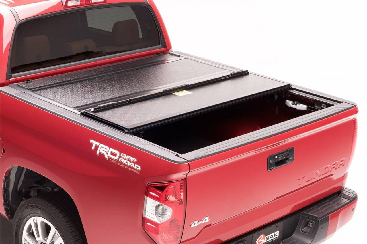 226427 BAK BAKFlip G2 Hard Folding Truck Bed Tonneau Cover w//OE track system 6 Bed Fits 2016-20 Toyota Tacoma