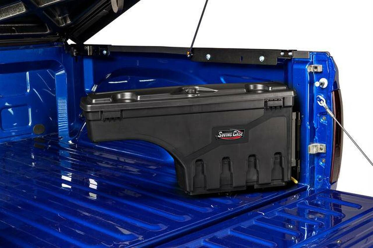fits 2019 Chevrolet Silverado//GMC Sierra 1500-3500 Drivers Side Black Smooth SC104D UnderCover SwingCase Truck Storage Box