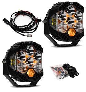 Baja Designs Jeep JL/JT Rubicon Steel Bumper LED Light Kit LP6 447671