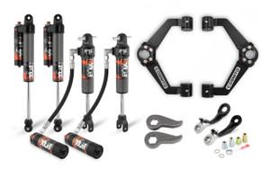 "Cognito 3"" Elite Leveling Kit with Fox Elite 2.5 Reservoir Shocks for 2011-2019 GMC/Chevy Sierra/Silverado 2500/3500 2WD/4WD"