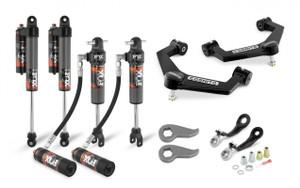 "Cognito 3"" Elite Leveling Kit with Fox Elite 2.5 Reservoir Shocks for 2020-2021 GMC/Chevy Sierra/Silverado 2500/3500 2WD/4WD"