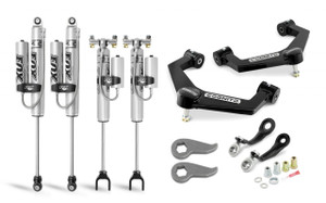 """Cognito 3"""" Premier Leveling Kit with Fox PSRR 2.0 Shocks for 2020-2021 GMC/Chevy Sierra/Silverado 2500/3500 2WD/4WD"""