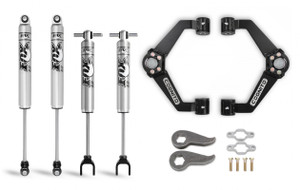 """Cognito 3"""" Performance Leveling Kit with Fox PS 2.0 IFP Shocks for 2011-2019  GMC/Chevy Sierra/Silverado 2500/3500 2WD/4WD"""
