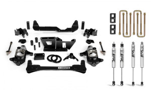 """Cognito 4"""" Standard Lift Kit With Fox PS 2.0 IFP Shocks for 2001-2010 GMC/Chevy Sierra/Silverado 2500/3500 2WD/4WD"""