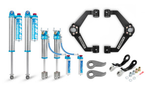 """Cognito 3"""" Elite Leveling Kit with King 2.5 Reservoir Shocks for 2011-2019 GMC/Chevy Sierra/Silverado 2500/3500 2WD/4WD"""