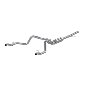"MBRP 2.5"" Cat Back, Dual Rear , AL, Chevy/GMC 1500 Silverado/ Sierra 4.3L V6, 5.3L V8 2019-2020"
