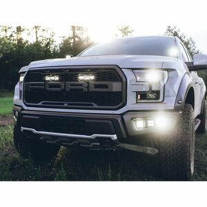 Rigid 2017-2020 Ford Raptor Fog Light Kit Includes Mounts and 6 D-Series