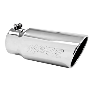 "MBRP Tip, 5"" O.D. Angled Rolled End 4"" inlet 12"" length, T304"