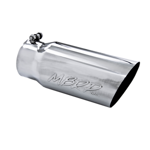 "MBRP Tip, 5"" O.D. Angled Single Walled 4"" inlet 12"" length, T304"