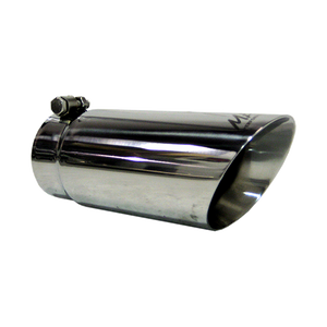 """MBRP Tip, 4"""" O.D. Dual Wall Angled 3.5"""" inlet 10"""" length, T304"""