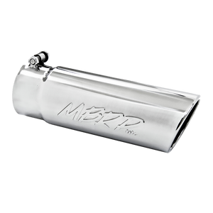 "MBRP Tip, 4"" O.D. Angled Rolled End 3.5"" inlet 10"" length, T304"