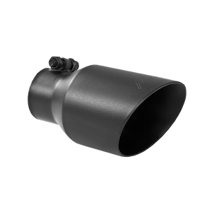 """MBRP Tip, 4"""" O.D. Dual Wall Angled, 2.5"""" inlet, 8"""" length, Black"""