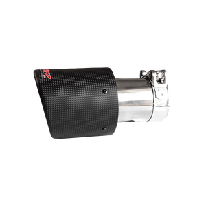 """MBRP Tip, 4"""" OD, Dual Wall Angled, 2.5"""" inlet, 7.7"""" length, Carbon Fiber, Universal"""