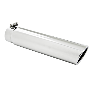"""MBRP Tip, 3.5"""" OD, 3"""" inlet, 16"""" in length, Angled Cut Rolled End, Clampless-no weld, T304"""