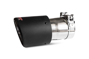 """MBRP Tip, 4.5"""" OD, Dual Wall Angled, 3"""" inlet, 7.7"""" length, Carbon Fiber, Universal"""