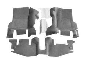 BEDRUG Jeep Bedtred 97-06 Jeep Wrangler TJ/LJ Front 3pc Floor Kit (With Center Console) - includes Heat Shields