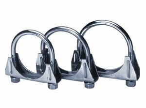 "Borla 2.5"" T-304 Stainless Steel U-Bolt/ Saddle Clamp"