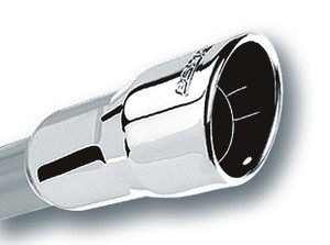 """Borla Exhaust Tip Black Chrome 2.75/"""" Inlet 4/"""" Outlet 14/"""" Long Angle Cut 20162"""