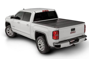 UnderCover Ultra Flex 2007-2019 Toyota Tundra 6.5ft Short Bed Std/Dbl with Deck Rail System Matte Black Finish