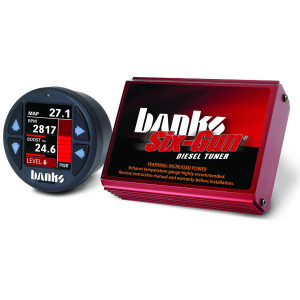 Banks Six-Gun 2007.5-10 6.6L Duramax LMM Tuner w/ iDash 1.8 Super Gauge