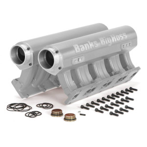 Banks Big Hoss Racing Intake Manifold System Natural for use with 01-15 Chevy/GMC 6.6L
