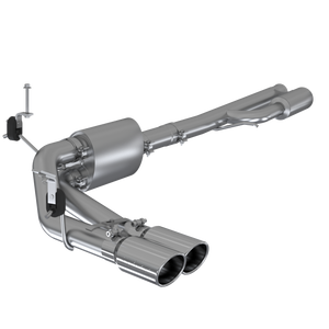 "MBRP 3"" Cat Back, Pre-Axle Dual Side Exit, T304 Chevy/GMC 1500 Silverado/ Sierra 4.3L, 5.3L (excluding reg cab short box) 2019 - 2021"
