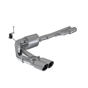 "MBRP 3"" Cat Back, Pre-Axle Dual Side Exit, AL Chevy/GMC 1500 Silverado/ Sierra 4.3L, 5.3L (excluding reg cab short box) 2019 - 2021"