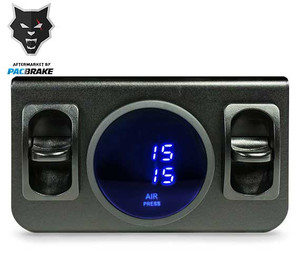 Pacbrake Premium In Cab Control Kit For Independent Paddle Valve In Cab Control Kit W/Digital Gauge Pacbrake