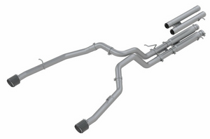 "MBRP 3"" Cat-Back Dual Split Rear, Race Version Exhaust System, 2021 RAM TRX T304 Stainless Steel with Carbon Fiber Tips"