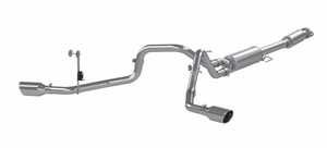 "MBRP 3"" Cat-Back 2.5 Inch Dual Split Side Exhaust System, 2021 Ford F-150 Aluminized Steel"