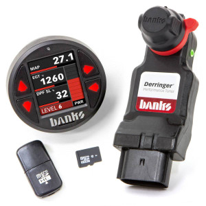 Banks Derringer Tuner, with iDash DataMonster for 2020+ Ram 1500 3.0L EcoDiesel, and 2020+ Jeep Wrangler/Gladiator 3.0L EcoDiesel