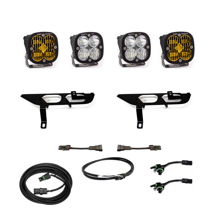 Baja Designs Fog Pocket Kit SAE Amber/Pro DC For Ford F150 2021+