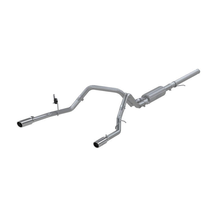 "MBRP 3"" Cat Back, Dual Split Rear, T409, Chevy/GMC 1500 Silverado/ Sierra 4.3L V6, 5.3L V8 2014 - 2018"