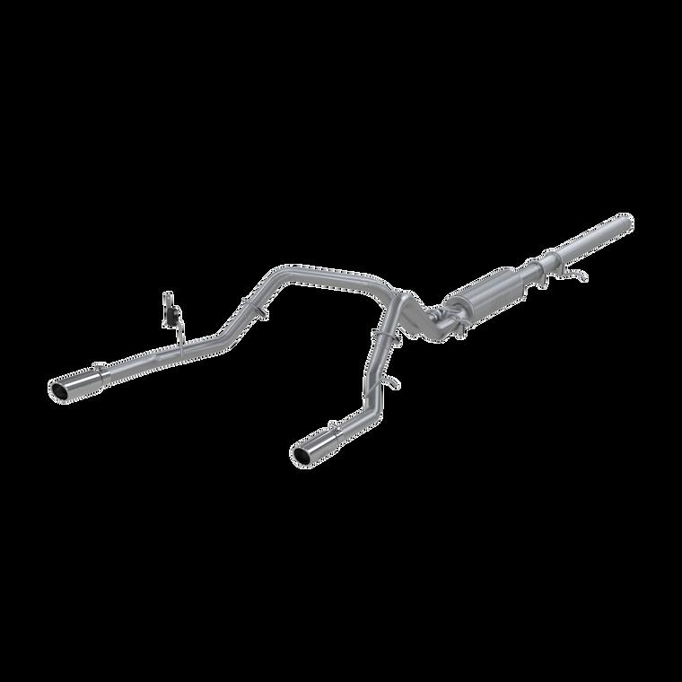 "MBRP 3"" Cat Back, Dual Split Rear, AL, Chevy/GMC 1500 Silverado/ Sierra 4.3L V6, 5.3L V8 2014 - 2018"