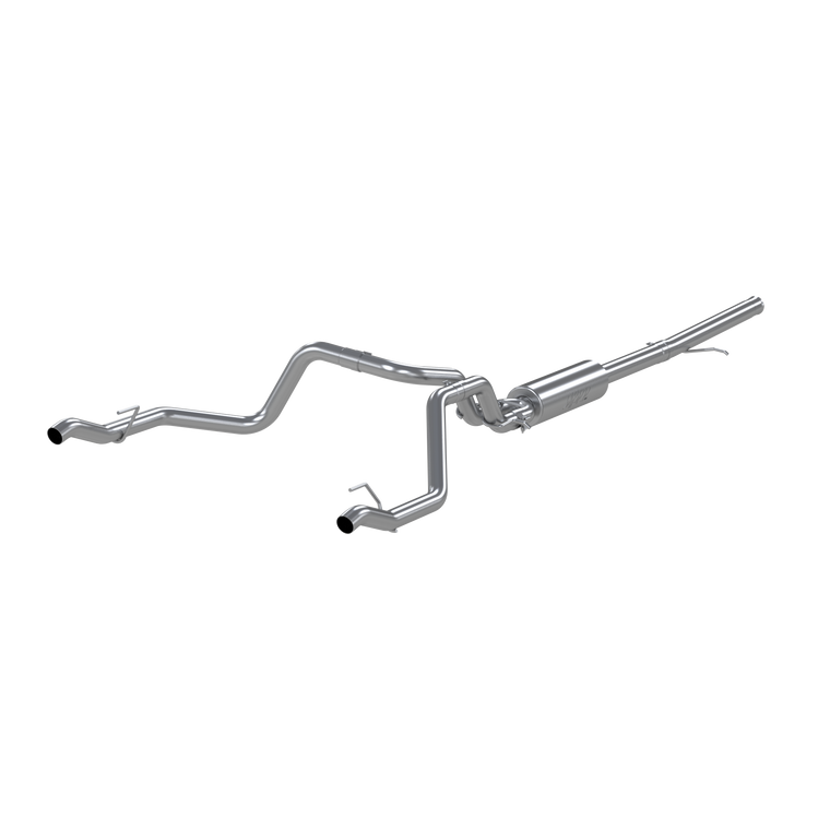 "MBRP 2.5"" Cat Back, Dual Rear , T304, Chevy/GMC 1500 Silverado/ Sierra 4.3L V6, 5.3L V8 2019-2020"