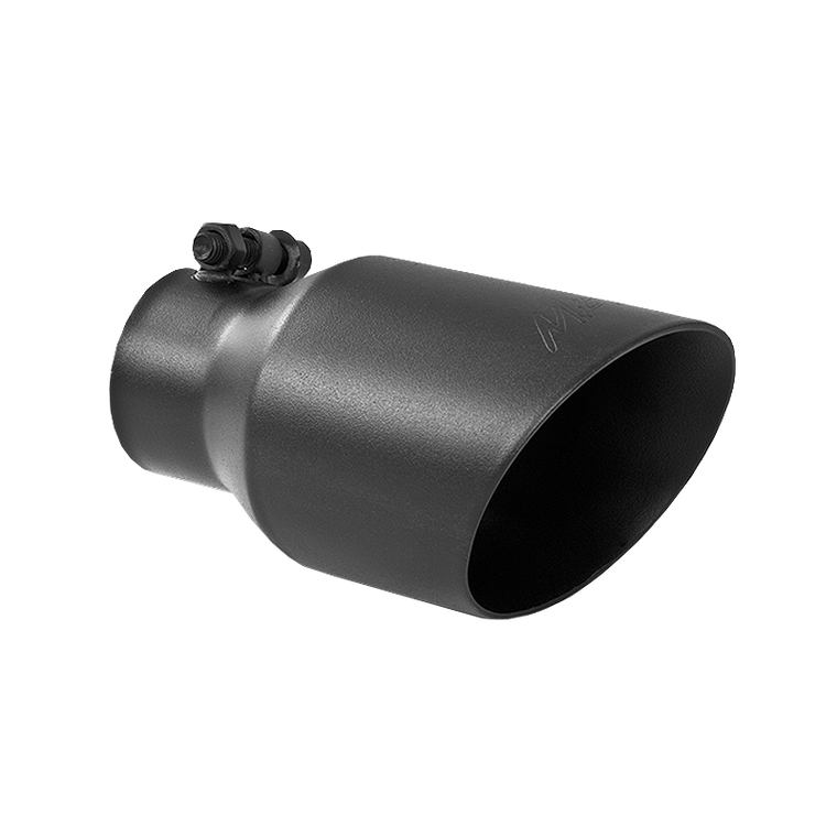 "MBRP Tip, 4"" O.D., Dual Wall Angled, 2.5"" inlet, 8"" length, Black"