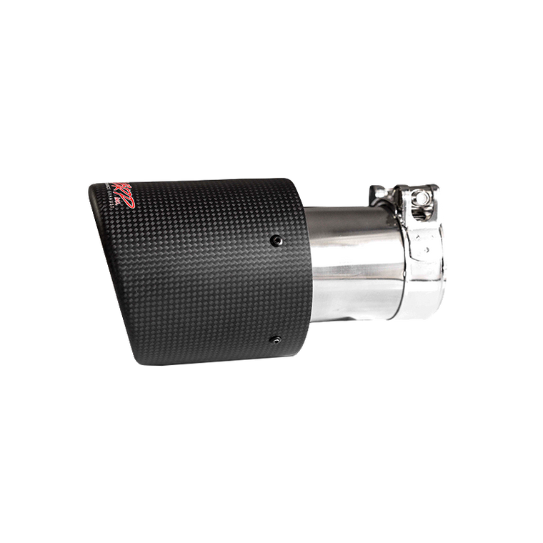 "MBRP Tip, 4"" OD, Dual Wall Angled, 2.5"" inlet, 7.7"" length, Carbon Fiber, Universal"