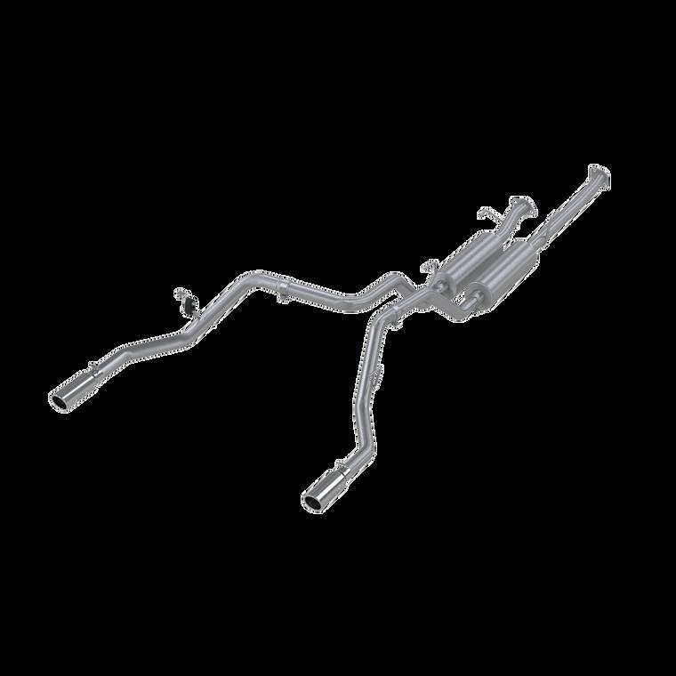 """MBRP 2.5"""" Cat Back, Dual Split Rear, T409, Toyota Tundra 5.7L, EC-Std. & SB/CC-SB 2009 - 2020"""