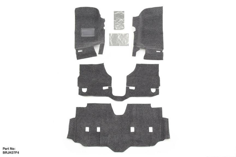 BEDRUG JEEP BEDRUG 07-17 JEEP JK UNLIMITED 4DR FRONT 4PC FLOOR KIT (INCLUDES HEAT SHIELDS)