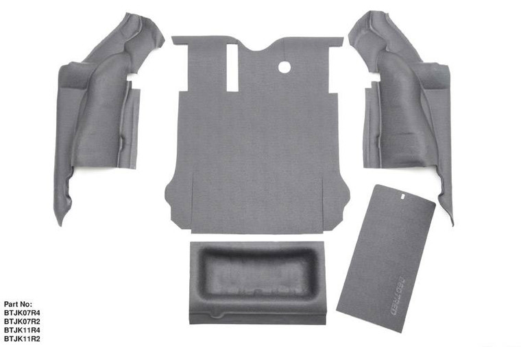 BEDRUG JEEP BEDTRED 11-17 JK UNLIMITED 4DR REAR 5PC CARGO KIT (INCLUDES TAILGATE & TUB LINER)