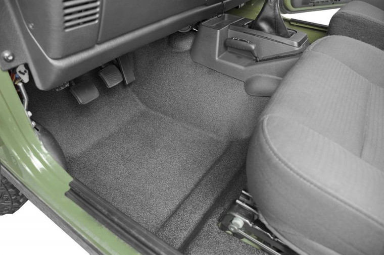 BEDRUG JEEP BEDTRED 97-06 JEEP TJ/LJ 97-06 FRONT 3PC FLOOR KIT (W/O CENTER CONSOLE) - INCLUDES HEAT SHIELDS **SPECIAL ORDER ONLY**