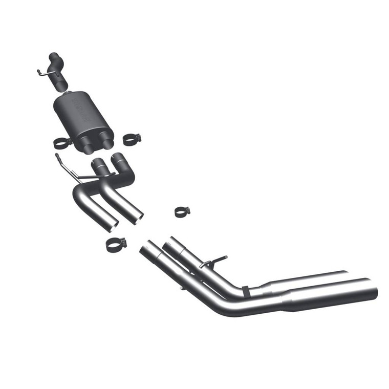 """Magnaflow Stainless Cat-Back 3/2.5"""" System, /Exhaust Systems/Dual Exhaust Kit 3.5"""" Polished Tips, /Exhaust Systems/Dual Exhaust Kit Same Side Exit Behind Rear Tire"""