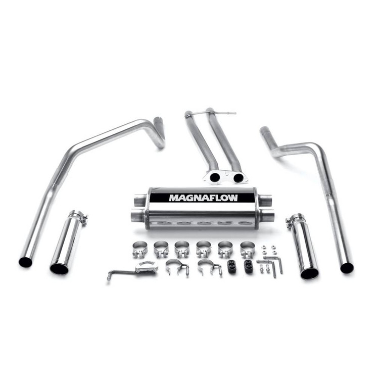 "Magnaflow Stainless Cat-Back 2.5"" Tubing, 3.5"" Tip, /Exhaust Systems/Dual Exhaust Kit Split Rear Exit MFL-15750"