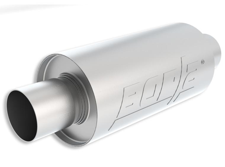 "Borla S-Type - 2.5"" Center-Center 10"" x 5"" Round - Specialty Muffler. Universal part. Reversible desgin for installation flexibility."