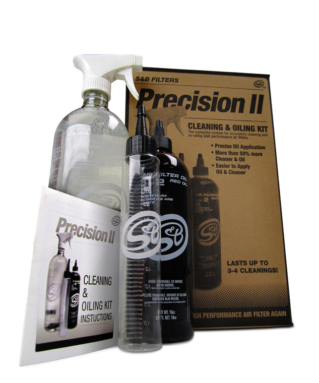S&B Filter Cleaning Kit Precision II: Cleaning & Oil Kit (Red Oil)